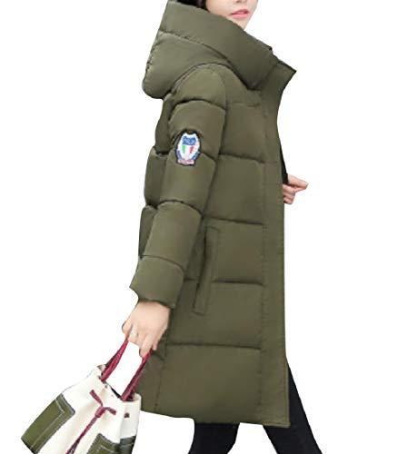 Spessore Di Donne Midi A Caldo Sovradimensionato Giacca Giacca Giù Rkbaoye Militare Cappotto Delle Vento Verde Hoode ZHqwXFWccI