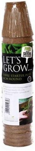 LetS Grow PNI1030 - Maceta Biodegradable (Circular): Amazon.es ...