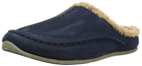 Deer Stags Men's Nordic Slip on Slipper, Navy, 9 M US