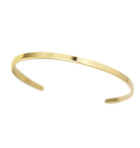 COUYA Elegant Cute Stainless Steel bracelets blanks Gold Plated Open Cuff Bangle Bracelets for Ladies - Plated Brass Cuff Gold