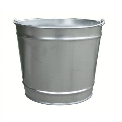 Witt Industries W10100 10 Quart Industrial Pail, 10 Quart, Galvanized
