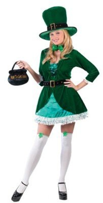 (FunWorld Women's Luscious Leprechaun,Green,S/M 2-8)