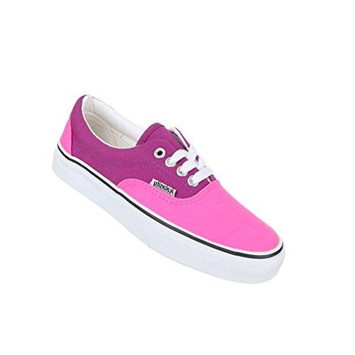 Damen Schuhe Freizeitschuhe Schnürer Sneakers Pink