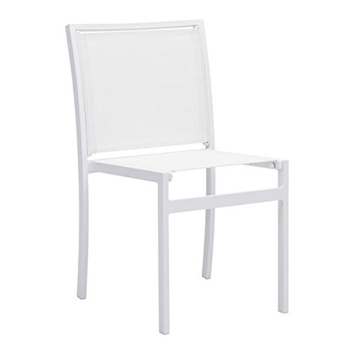 Zuo 703845 Mayakoba Dining Chair, White (Zuo Patio Chair)