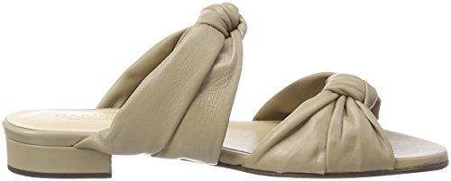 GARDENIA COPENHAGEN Gillisi Knot, Sandalias con Punta Abierta Para Mujer Beige (Softanil Taupe)