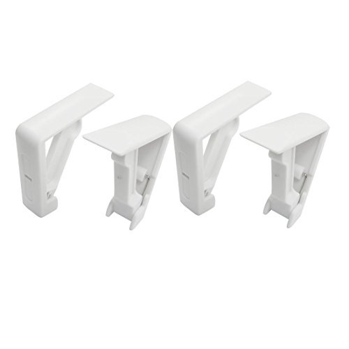 Table Cloth Cover - Cofa 4 Pcs Table Cloth Cover Tablecloth Clamp Clips White - Oblong Dinner Rectangle Paper Foot Holder For Fitted Round Party