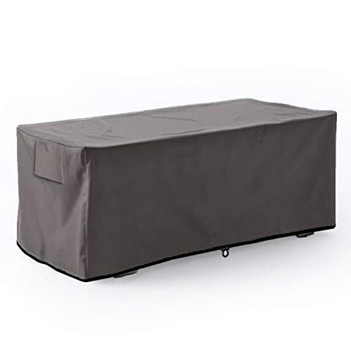 Leader Accessories Waterproof Deck Box/Storage Ottoman Bench Cover for Keter/Lifetime/Suncast/Rubbermaid Deck Box L-Size