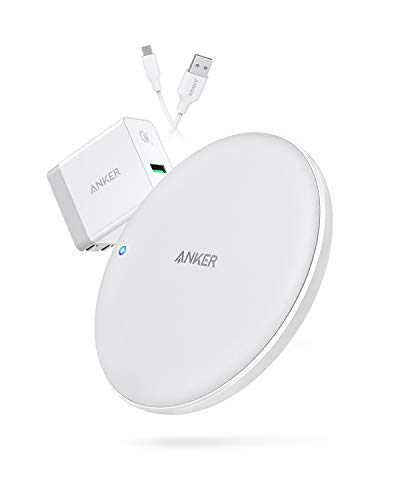 Anker PowerWave 7.5 Fast Wireless Charging Pad with Internal Cooling Fan, Qi-Certified, 7.5W Compatible iPhone Xs Max/XR/XS/X/8/8 Plus, 10W Charges Galaxy S9/S9+/S8/S8+ (with Quick Charge Adapter)