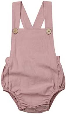 WOCACHI Toddler Baby Girls Clothes, Newborn Infant Baby Girl Bowknot Backless Romper Bodysuit Outfits Clothes