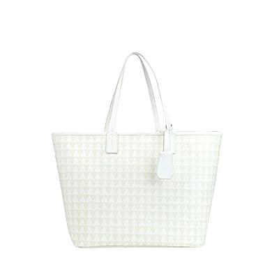 free shipping Schutz Women's MCGLBRE03157E White Faux Leather Tote