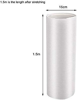 Manguera de Escape portátil Manguera de Aire Acondicionado Universal Tubo de CA Flexible Kit de extensión de ducto de PVC (diámetro: 13 CM / 15 CM): Amazon.es: Hogar