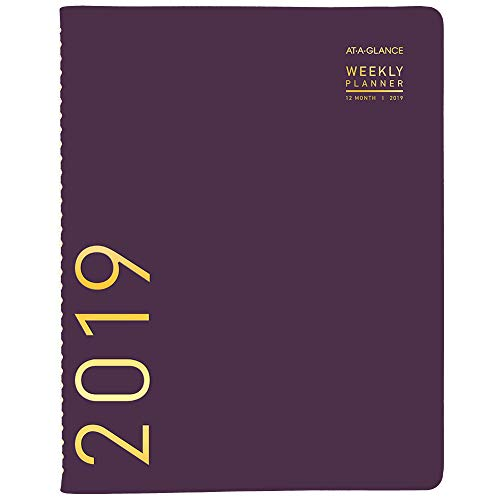 """AT-A-GLANCE 2019 Weekly & Monthly Planner / Appointment Book, 8-1/4"""" X 11"""", Large, Contemporary, Purple (70940X59) from AT-A-GLANCE"""