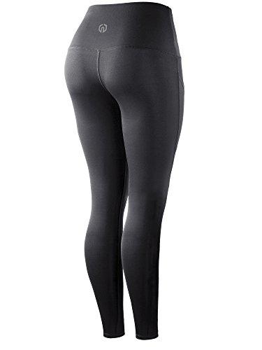 Neleus 2 Pack Tummy Control High Waist Running Workout Leggings,9017,2 Pack,Grey,Blue,US S,EU M by Neleus (Image #3)