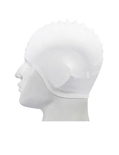 Teenager Professional Waterproof Silicone Swimming Caps(White) - 5