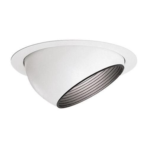 Lightolier 1182 6-3/4 Inch Adjustable Accent Eyeball Reflector Trim Round Gloss White Lytecaster - Lightolier Lytecaster Recessed Lighting
