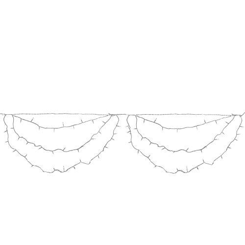 (Northlight Set of 150 Pure White LED Swag Christmas Lights 3.5