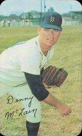 Mclain Detroit Tigers Denny (1970 Topps Super (Baseball) Card# 17 Denny McLain of the Detroit Tigers ExMt Condition)
