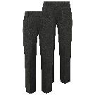 Boys Grey Half Elastic School Trouser 2 Pack | School | George