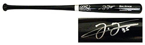 Signed Big Stick Bat - Frank Thomas Signed Rawlings Big Stick Black Baseball Bat