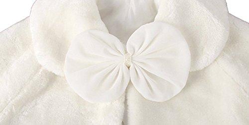 Fankeshi Ivory Flower Girl Faux Fur Shawl Wraps Cape Kids Wedding Communion S by Fankeshi (Image #2)