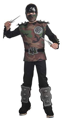 Child's Jungle Camo Ninja Costume, Small