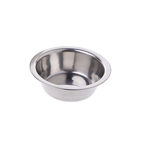 SELFON Cat Dog Puppy Hanging Hook Bowl Stainless Steel Cage Coop Cup Bird Food Water Dish Tool (S)