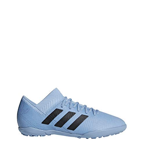 (adidas Kids Unisex Nemeziz Messi Tango 18.3 TF Soccer (Little Kid/Big Kid) Ash Blue/Black/Raw Grey 4.5 M US Big Kid M)