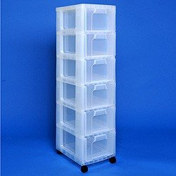 Storage Tower With X Litre Really Useful Drawers