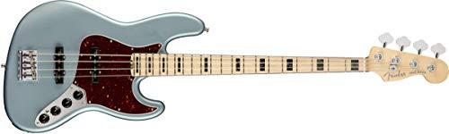 Fender American Elite Jazz Bass - Satin Ice Blue Metallic w/Maple Fingerboard