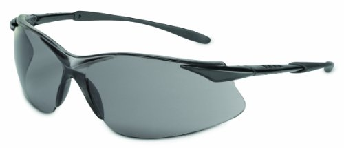 Sperian XV201 Tectonic Series Eyewear TSR Gray Anti-Scratch Lens and Gloss Black Temple