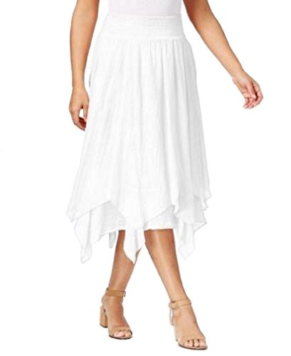 - Style & Co. Womens Smocked Layered Knit Skirt White XL