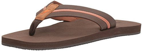 Tommy Bahama Mens Taheeti Flip Flop  Dark Brown  11 D Us