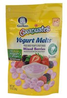 Gerber Graduates Yogurt Melts Mixed Berry -- 1 oz