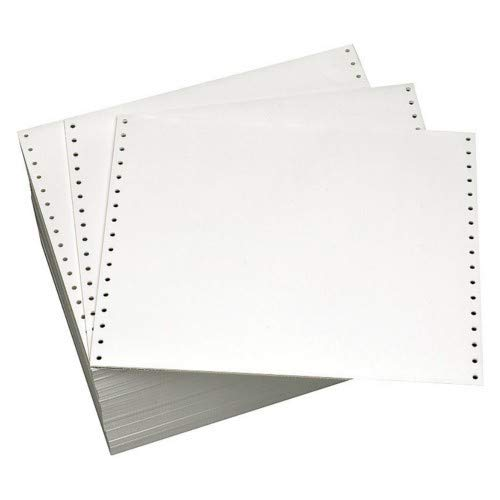 Alliance Continuous Computer Paper 12'' x 8-1/2'' Blank Left & Right Perforated 1-Part 92 Bright 20lb 2700 Sheets per Carton by Alliance (Image #4)