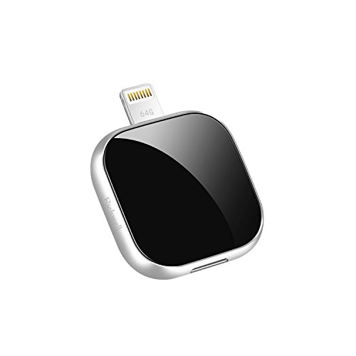 Price comparison product image iPhone USB Flash Drive 64GB,External Expansion Storage Memory Stick,Richwell 3in1 for Apple iPhone ios iPad ipod Mac Android and Computer External USB Stick(Black64G)