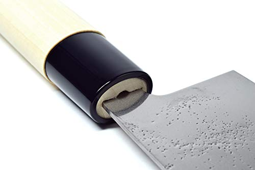 Seki Japan MASAMUNE, Japanese Vegetable Kitchen Knife, Nashiji Stain Finish Stainless Steel Nakiri Knife, Shiraki Handle, 6.3 inch (160mm) by product of gifu japan (Image #7)