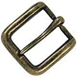 """Tandy Leather 1-1/2"""" Solid Antique Brass Wave Buckle 1641-09"""