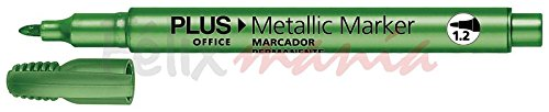 36x Rotulador Permanente Plus Office Metallic Marker Verde 1.2mm Color Verde Marker 4efd1e