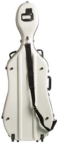 Bobelock 2000W Fiberglass Ivory/Blue 4/4 Cello Case with Wheels by Bobelock (Image #2)