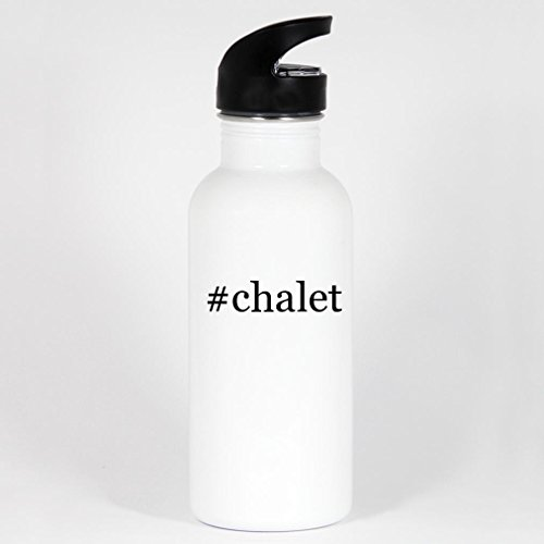 #chalet - 20oz White Stainless Steel Hashtag Water