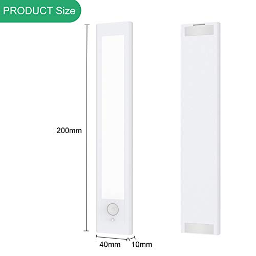 LED Closet Light 22 LED USB Rechargeable Motion Sensor Under Cabinet Lighting Wireless Magnetic Stick-Anywhere Portable Security Closet Light Bar for Stairs,Wardrobe,Kitchen,Hallway