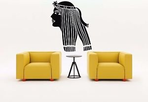 [Wall Sticker Room Decal Egypt Empress Nefertiti Cleopatra Woman Queen bo2548] (Cleopatra Cat Costume)