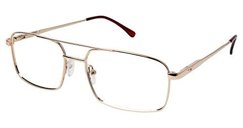 LAmy C by L'AMY 614 Eyeglass Frames - Frame SHINY GOLD, Size -
