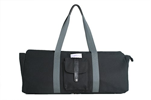 Yoga Mat Bag Extra Large From Lodayoga. 100% Canvas Yoga Bag Long Comfortable Straps Full Length Durable Zip Large External Pocket Internal Plastic Wet Pocket Suitable for Women and Men