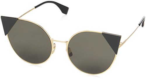 Fendi Women's Arrow Accent Sunglasses, Rose Gold Black/Black, One - Sunglass Fendi