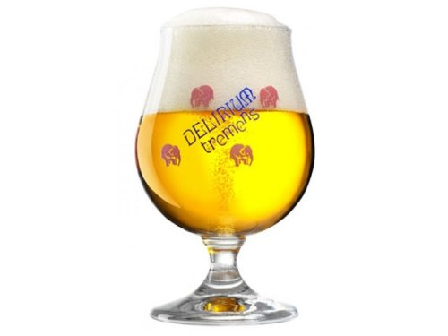 Delirium Tremens Belgian Chalice/Goblet Beer Glass 0.25L - Set of 2 by Delirium