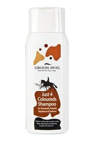 Groom Aawy Just 4 Coloureds Shampoo - 400ml - designed specifically skewbalds, piebalds, appaloosa and tobiano's