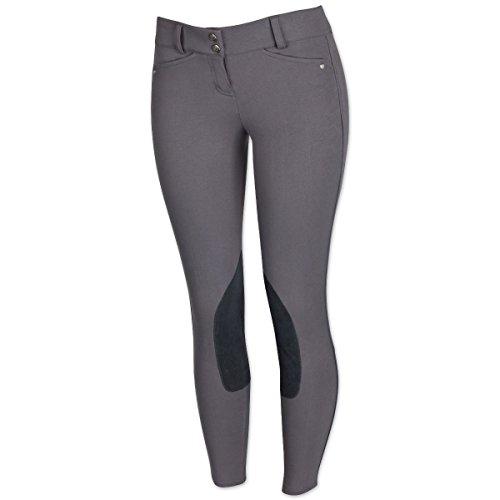 Breeches Ariat (Ariat Women's Heritage Low Rise Knee Patch Front Zip Pant, Flint, 36 Regular)