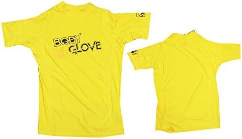 Body Glove Rash Guard Basic Kinder Shirt Gelb S/A Kurzarm Schwimmen Longsleeve Lycra T- Shirt