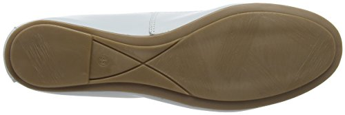 White Leather Tamaris Donna Bianco Ballerine 22165 OzzW18